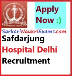 VMMC & Safdarjung Hospital (SJH) Delhi SR Vacancy 2019 Recruitment