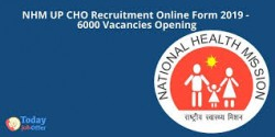 UP NHM CHO Health Officer Recruitment 2019