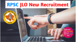 RPSC JLO Recruitment 2019 Vacancy Notification