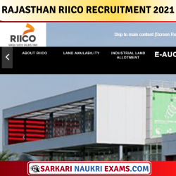 Rajasthan RIICO Junior Assistant & Other Post Recruitment 2021 Apply Online Form !!
