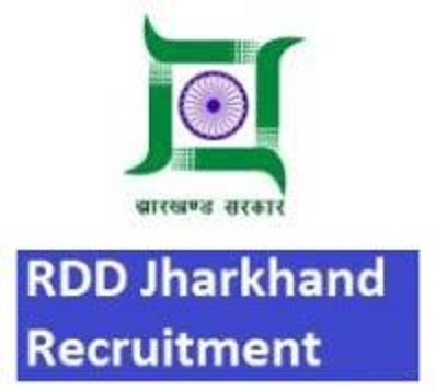Jharkhand RDD Recruitment 2018